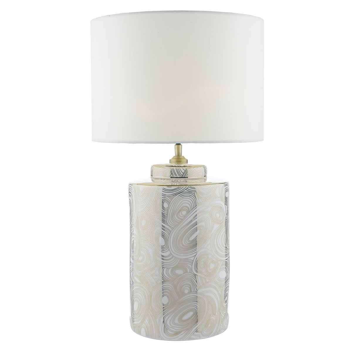 Ayesha Table Lamp White & Gold Base Only
