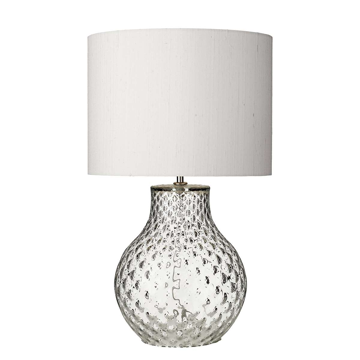 Azores Small Clear Dimpled Table Lamp Base Only