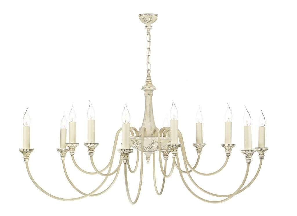 Bailey 12-Light Antique Cream Fitting