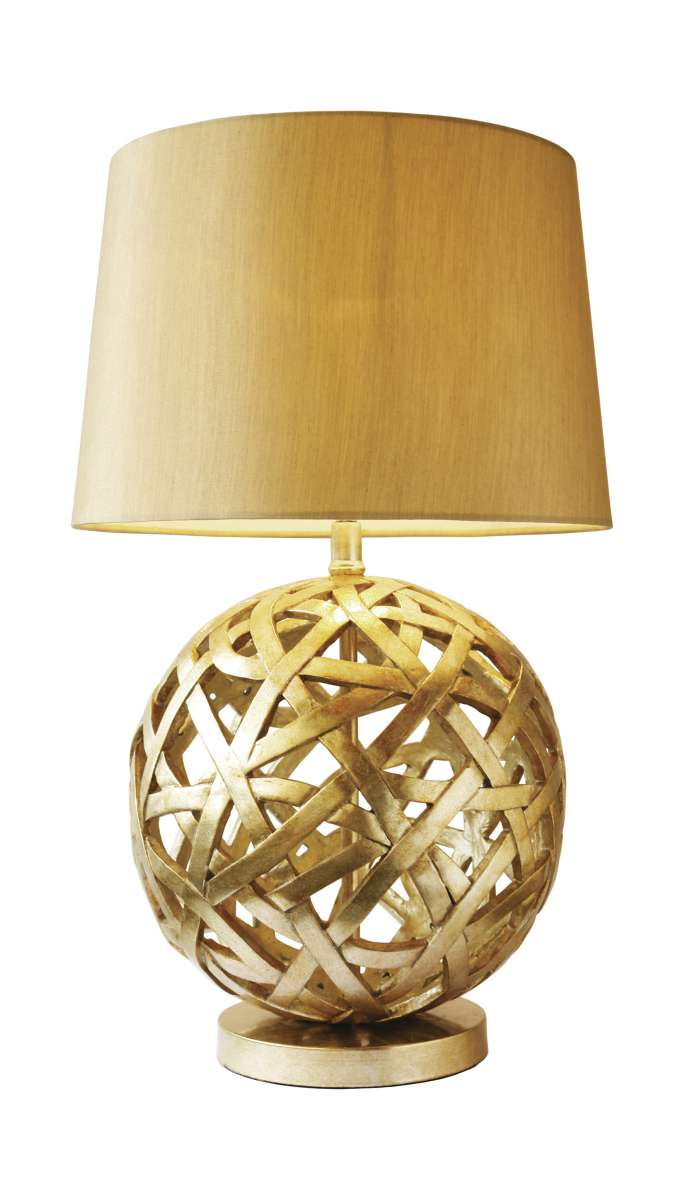 Balthazer Antique Gold Table Lamp With Shade