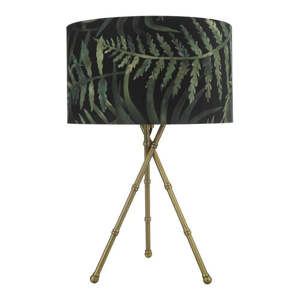 Bamboo Table Lamp Antique Brass Base Only