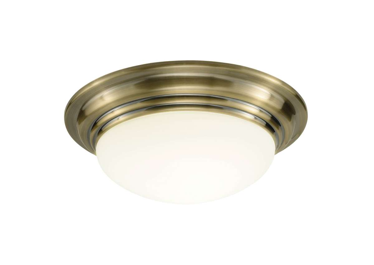 Barclay Large Antique Brass Flush Fitting