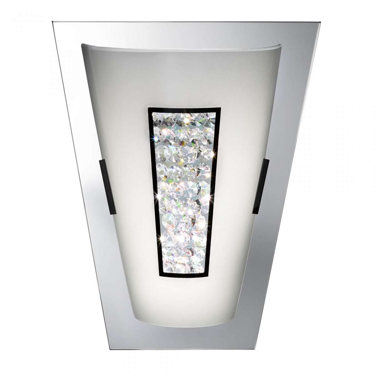 Bathroom 8W LED Wall Light Mirror Edge & Crystal Inner