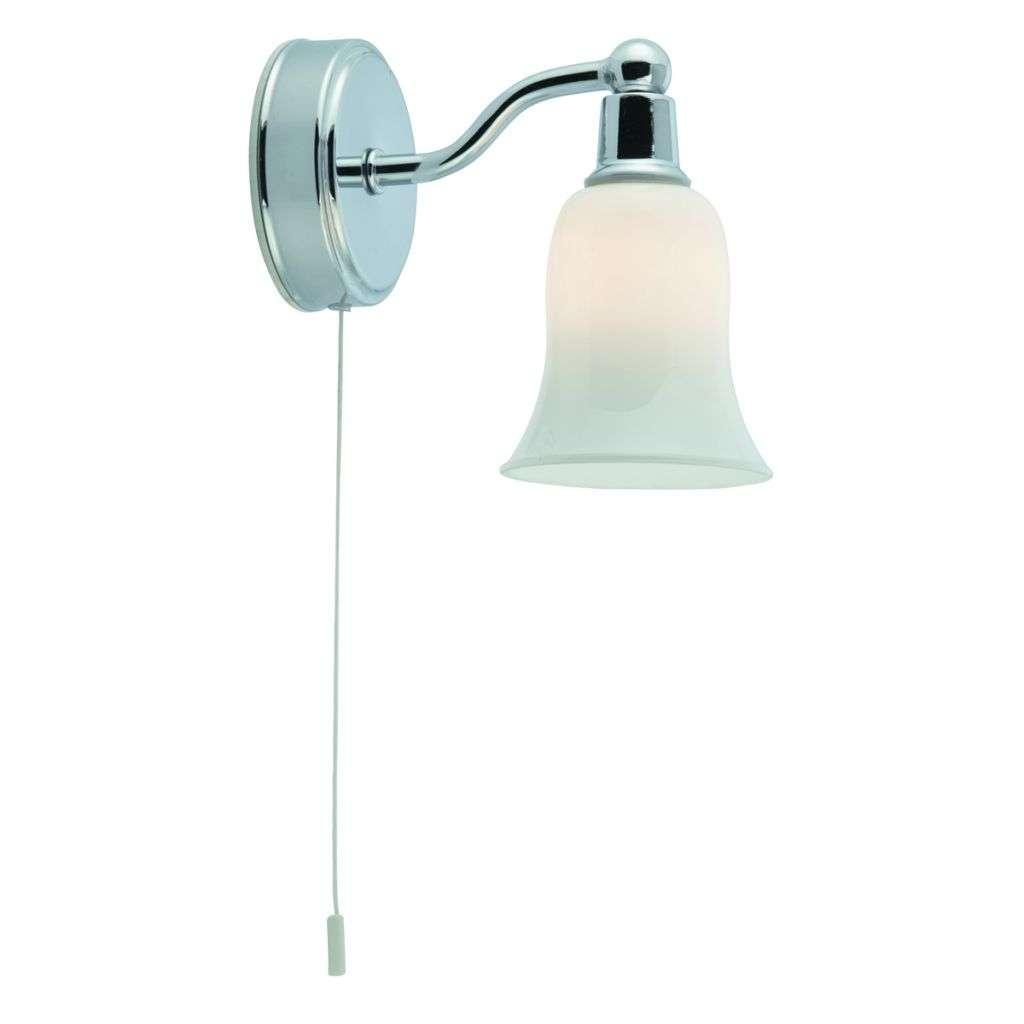 Bathroom Ip44 - 1 Light White Shade Wall Light