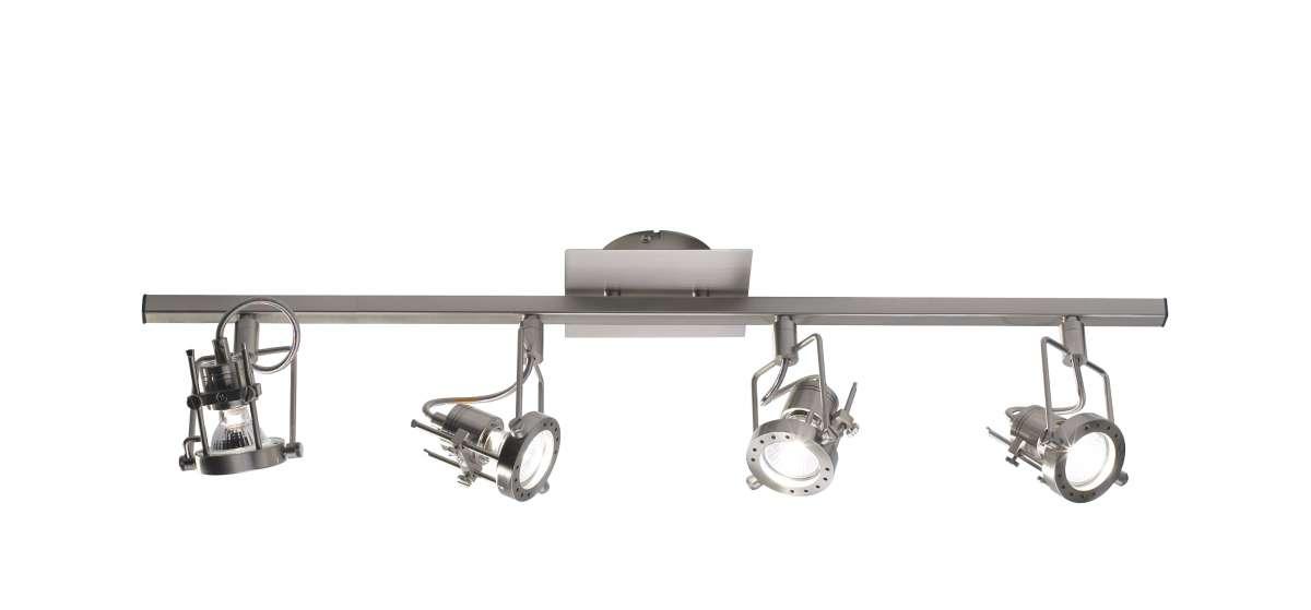 Bauhaus 4-Light Satin Chrome Spot Light