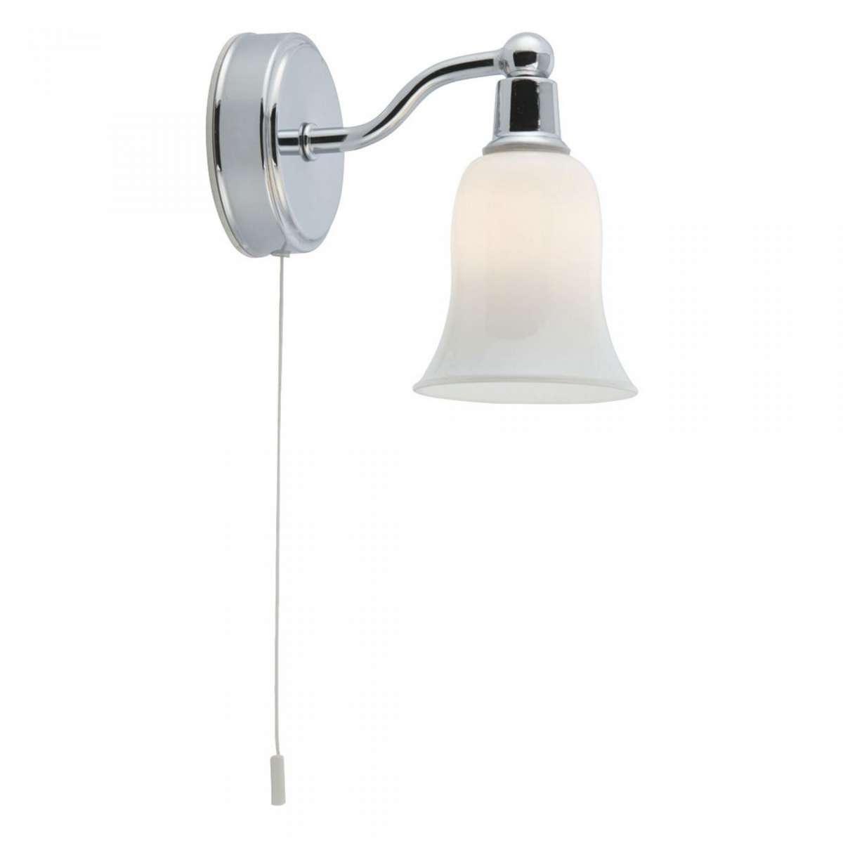 Belvue Bathroom Wall Light IP44 LED White Shade