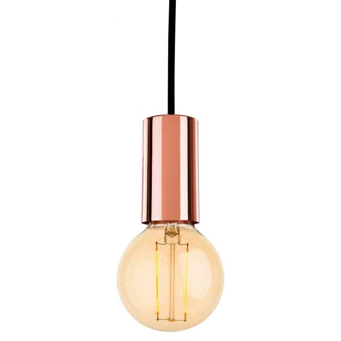 Berkeley Single Light Ceiling Pendant In Copper Finish