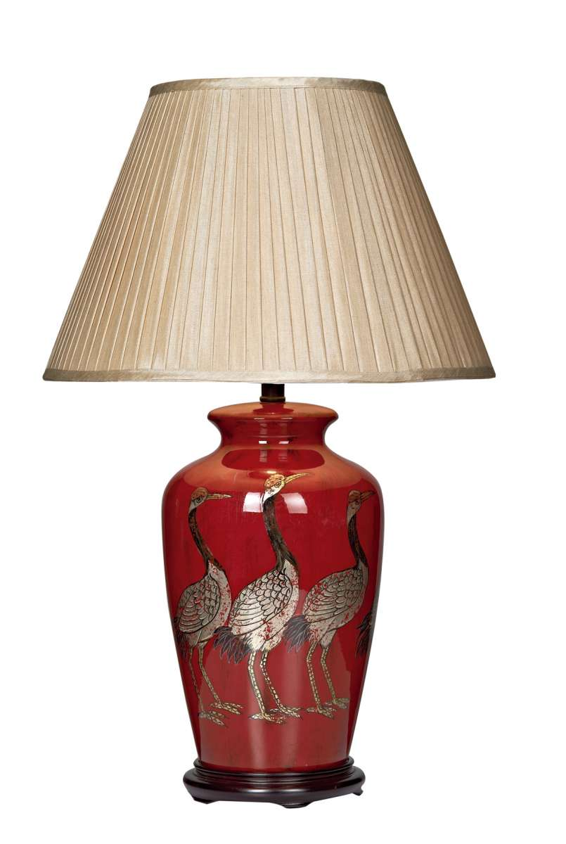 Bertha Red Ceramic Table Lamp Only
