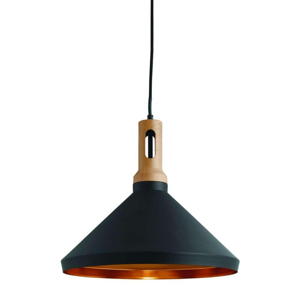 Black Cone Pendant Light with Gold Inner | Online Lighting Shop