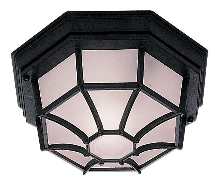 Black Outdoor Flush Mounted Fitting