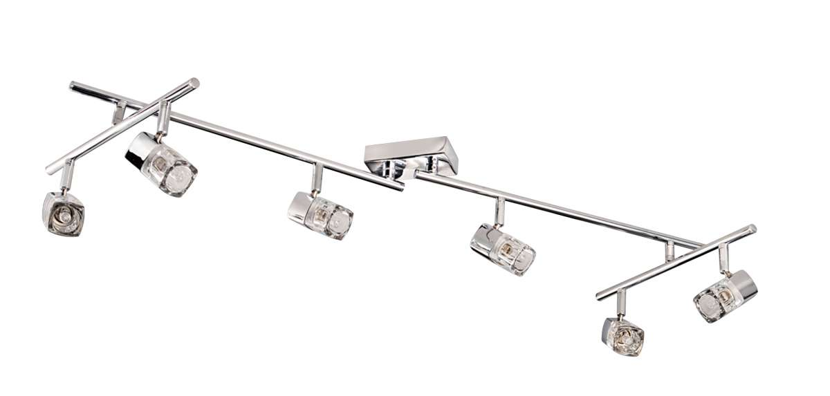Blocs 6-Light Polished Chrome Spotlight