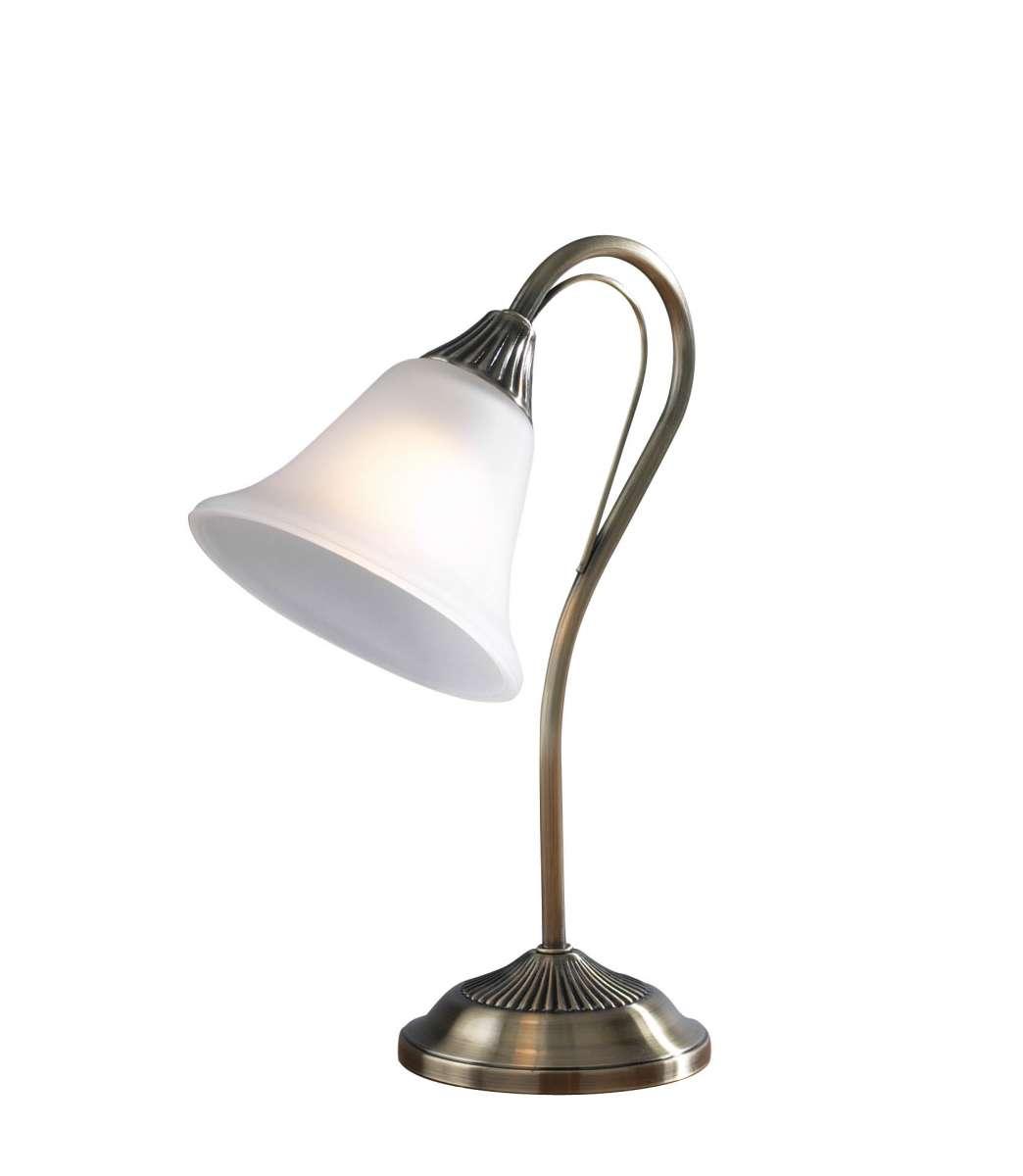 Boston 1-Light Antique Brass Table Lamp