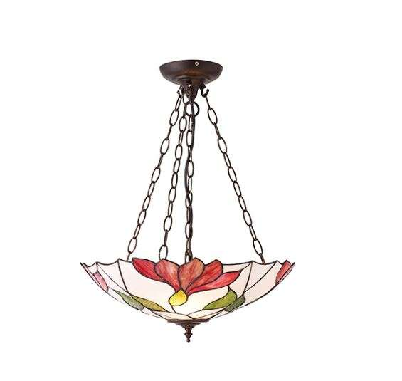 Botanica Inverted 3 Light Pendant Set 60W