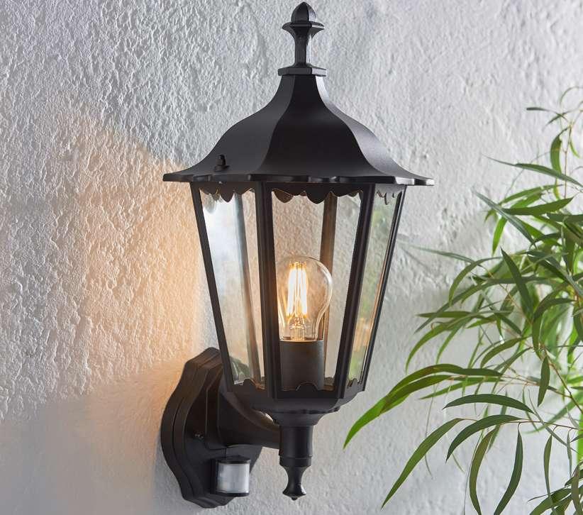 Endon Lighting 76548 Burford Wall Light Photocell  U0026 Pir