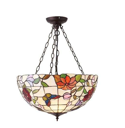Butterfly Large Inverted 3 Light Pendant 60W