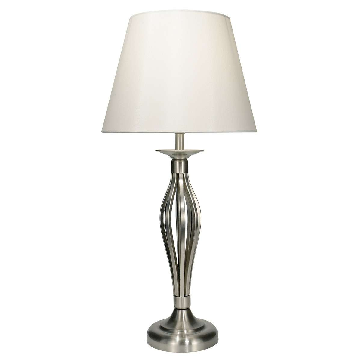 Bybliss Table Lamp Satin Chrome