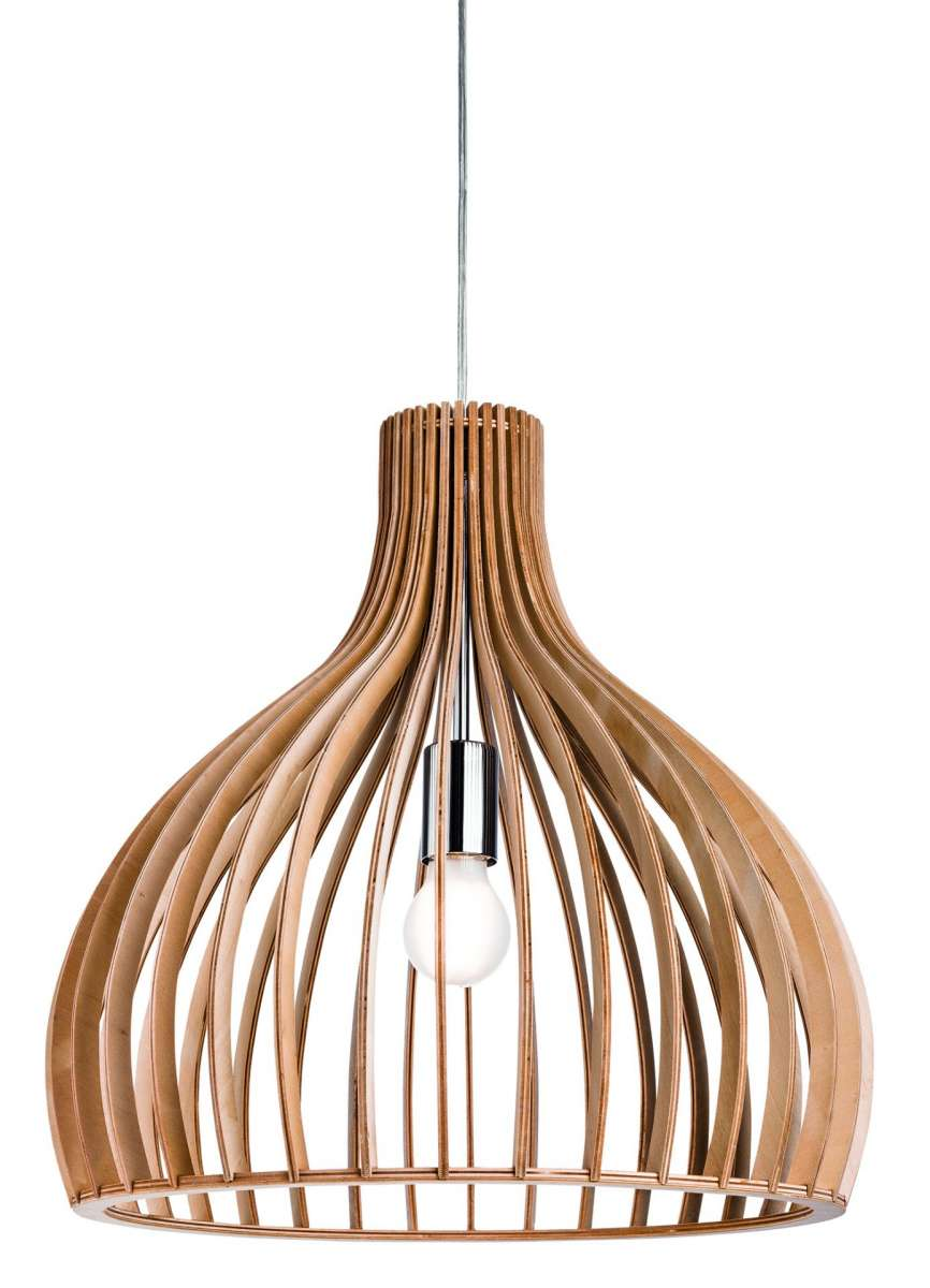 Cadiz Single Wood Pendant