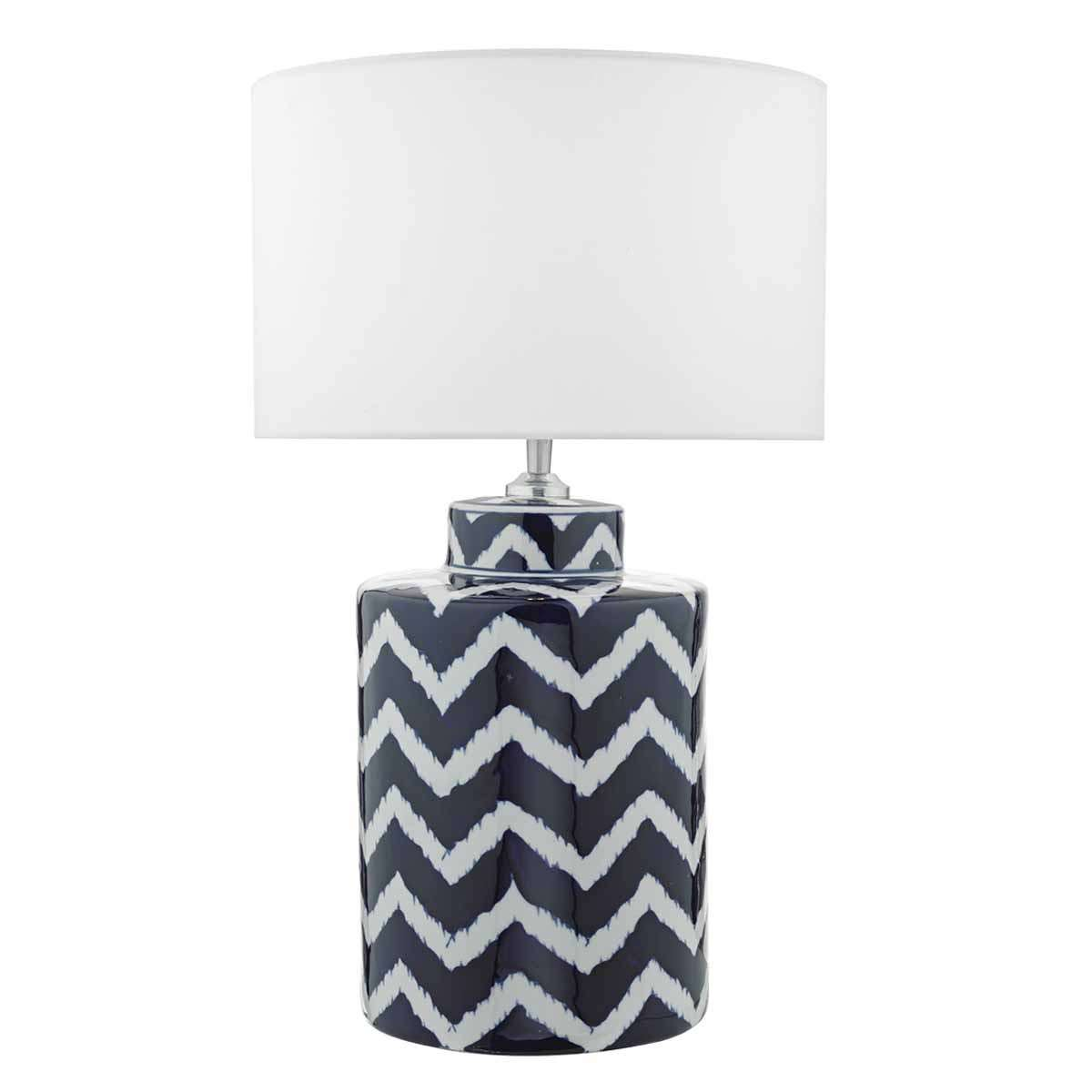 Caelan Table Lamp Blue & White Base Only