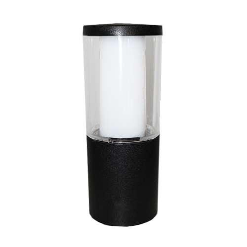 Carlo 250 mm Black Clear LED 3.5W Bollard Post Light