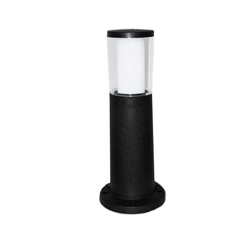 Carlo 400 mm Black Clear LED 3.5W Bollard Post Light