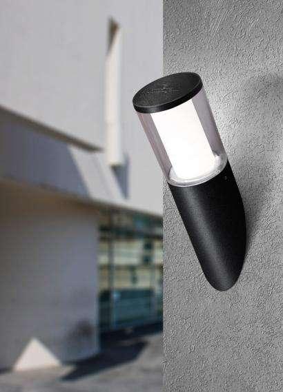 Carlo Black Clear LED 3.5W Angled Wall Light
