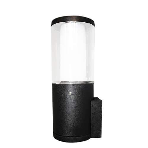 Carlo Black Clear LED 3.5W Bollard Wall Light