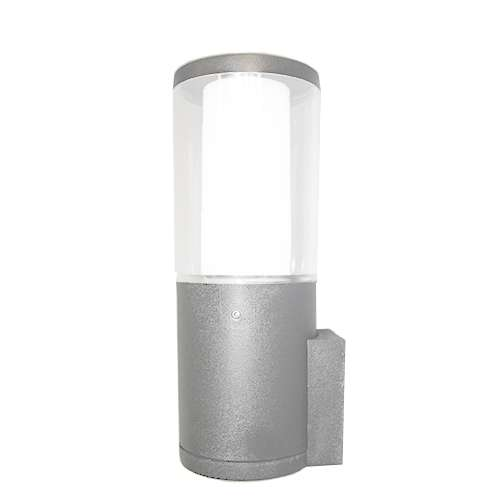 Carlo Grey Clear LED 3.5W Bollard Wall Light
