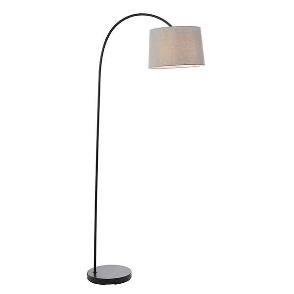 Carlson Floor Lamp in Matt Black C/W Grey Finish