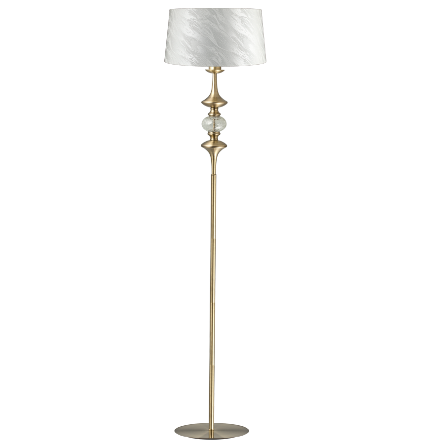 Carmen 1-Light Floor Lamp Antique Brass | Online Lighting Shop