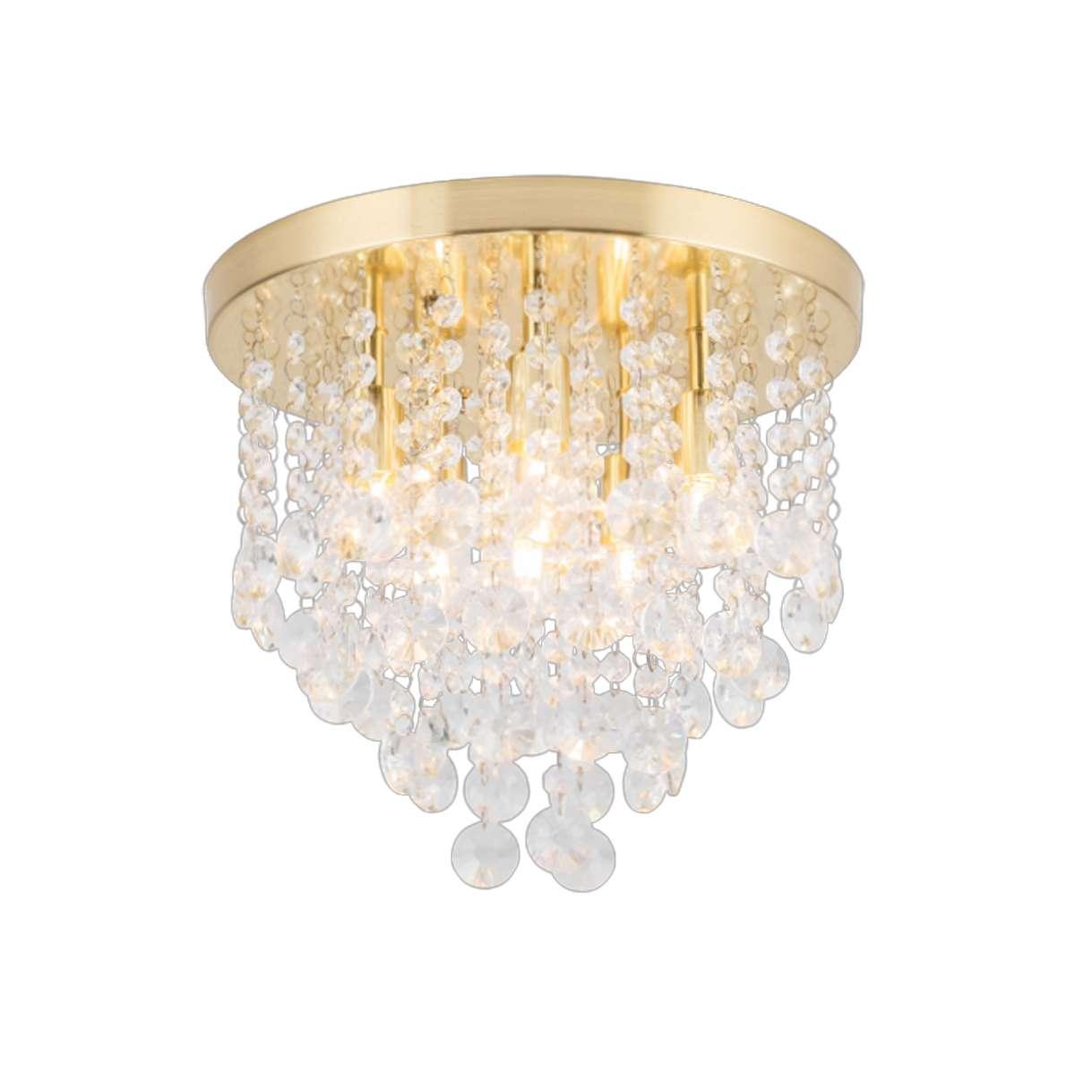 Celeste 6 Light Flush Fitting in Brass