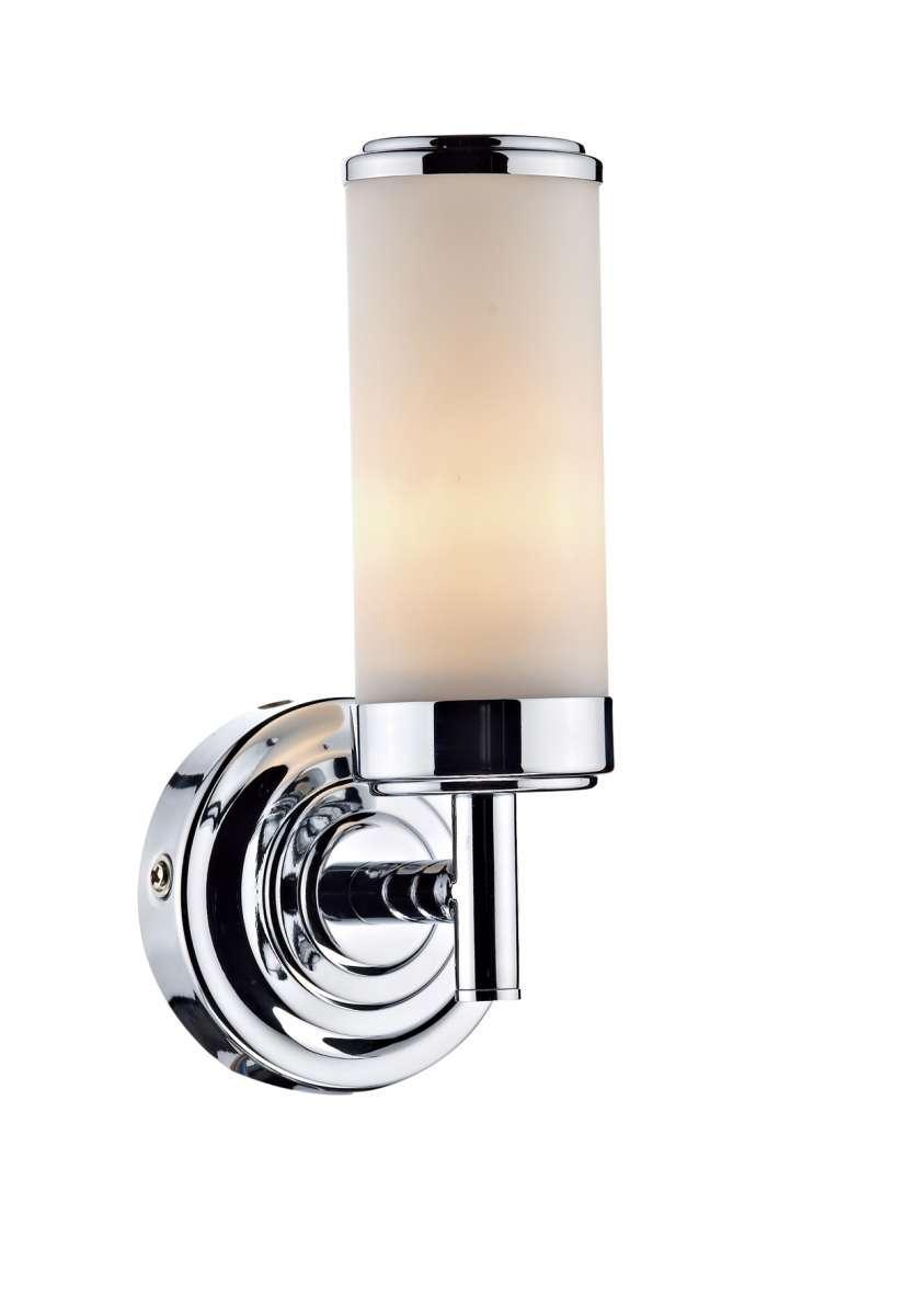 Century 1-Light Polished Chrome Bathroom Wall Bracket