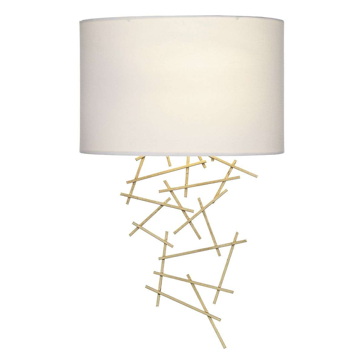 Cevero Gold Wall Light C/W Ivory Shade