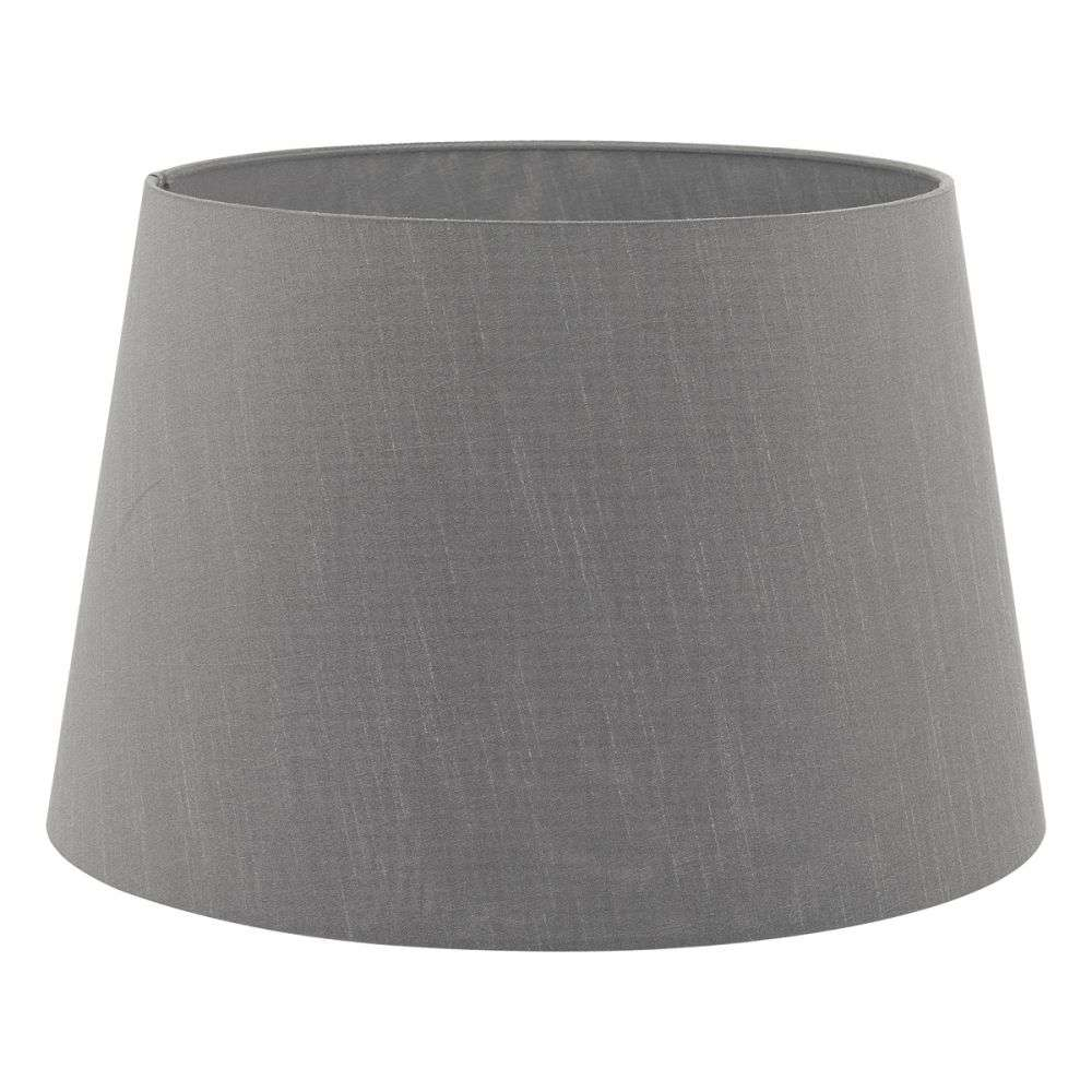 Cezanne French Drum 35cm Slate Faux Silk Tapered Drum