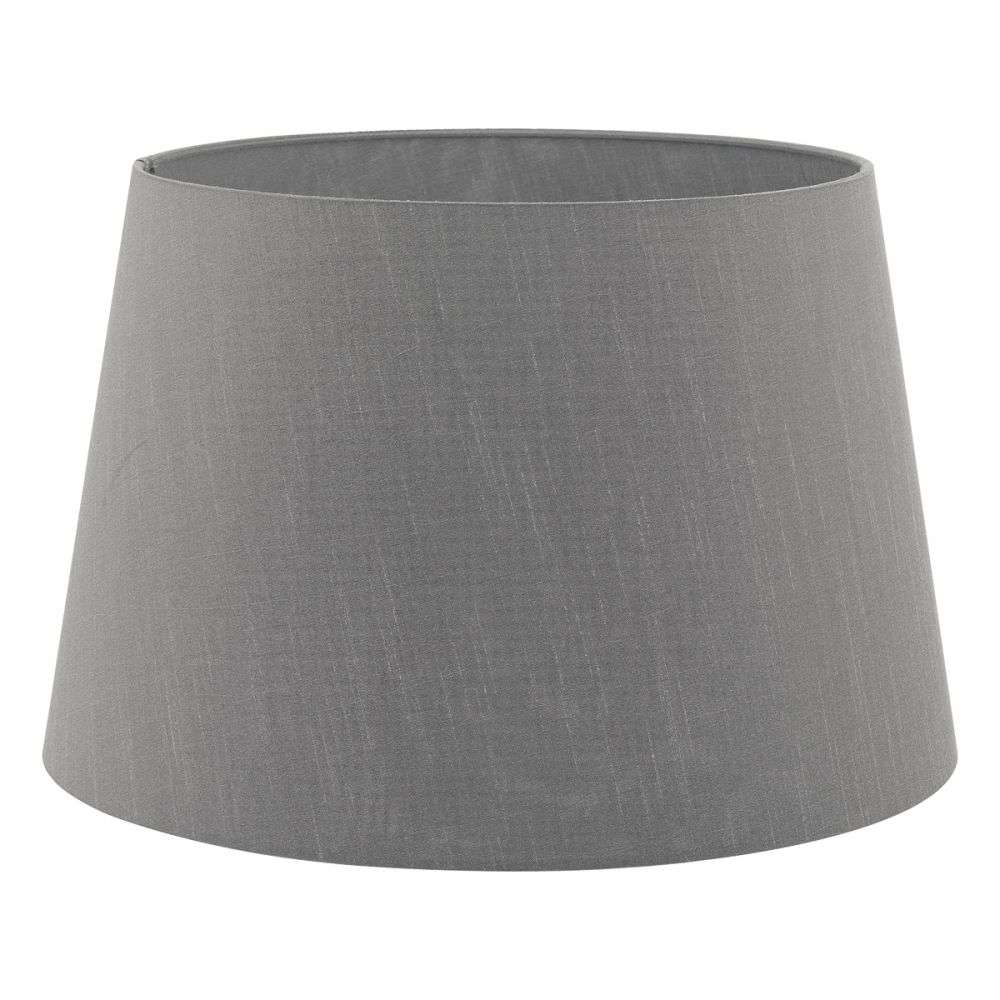Cezanne French Drum 40cm Slate Faux Silk Tapered Drum