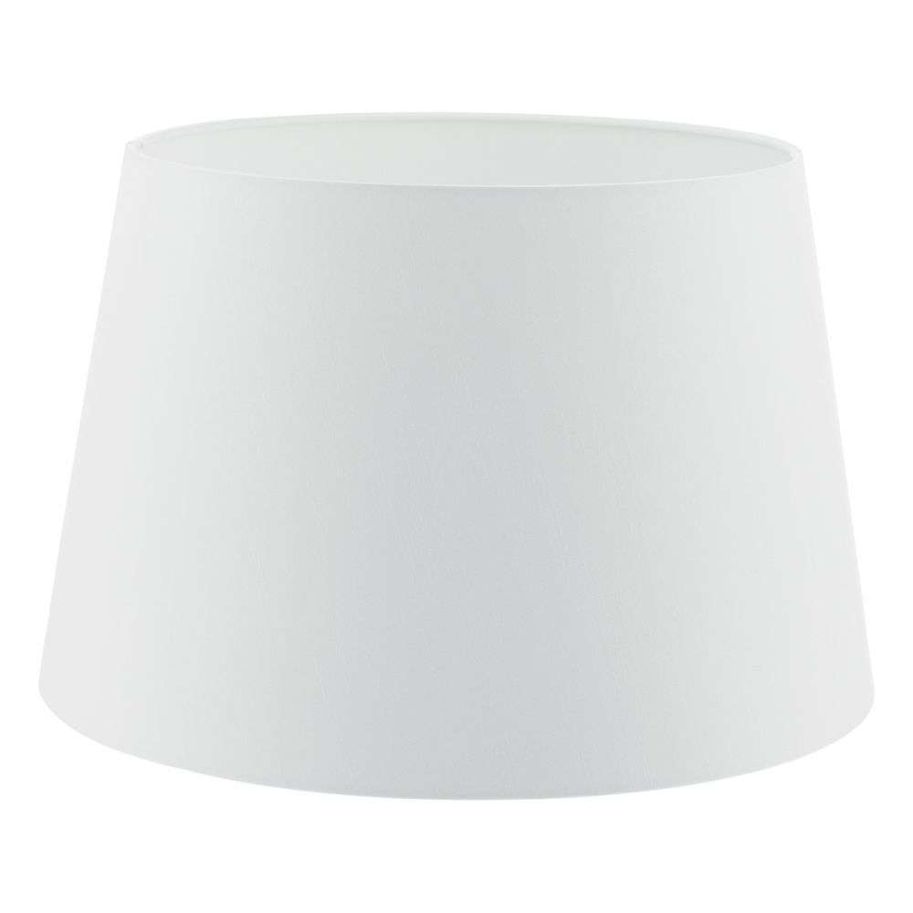Cezanne French Drum 40cm White Faux Silk Tapered Drum
