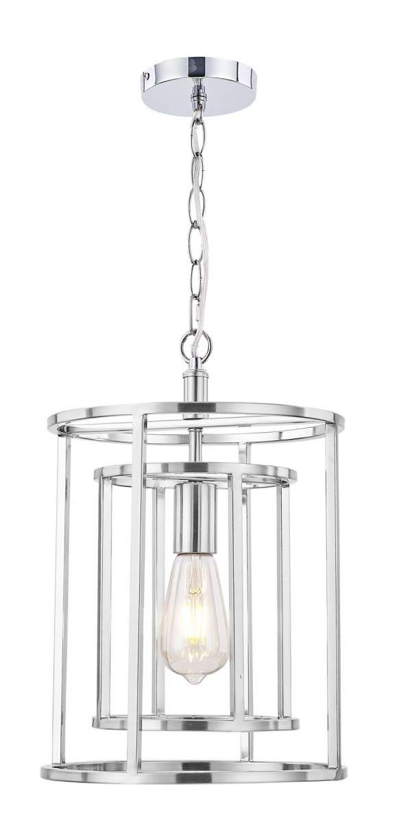 Chester 1 Light Pendant Satin Chrome