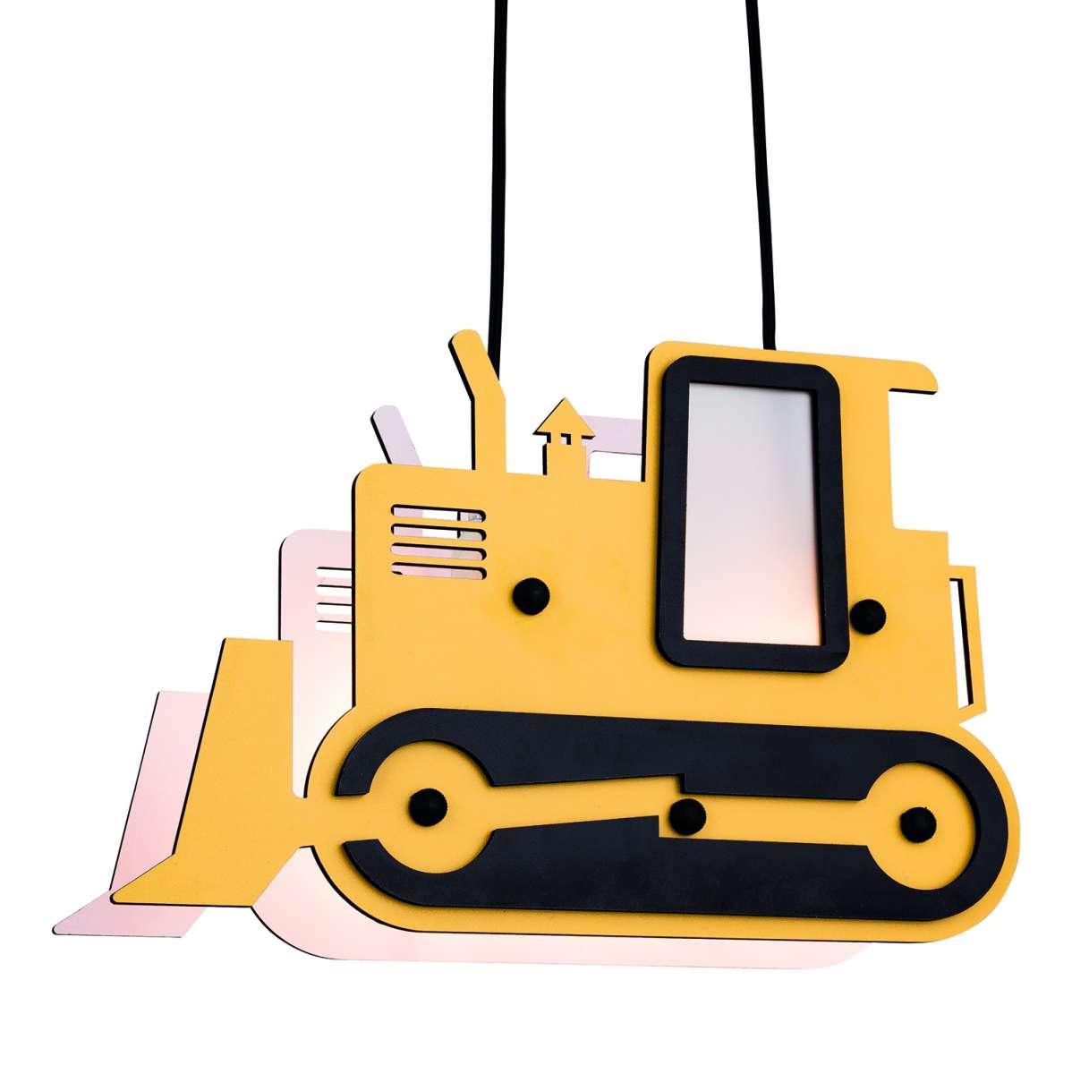 Childs Bulldozer Pendant Light