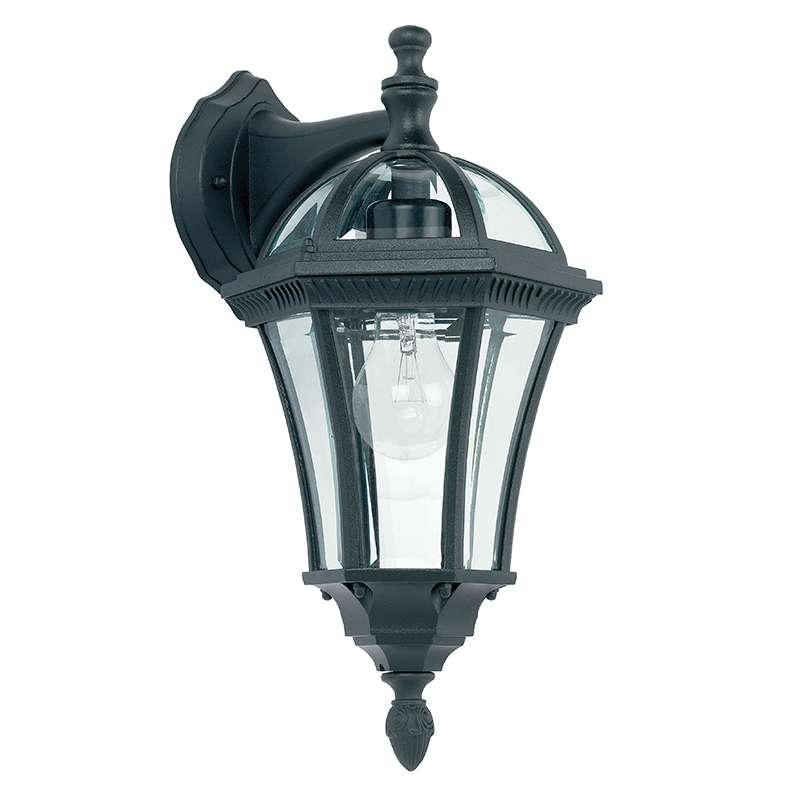 Chromate treated black cast aluminium wall lamp