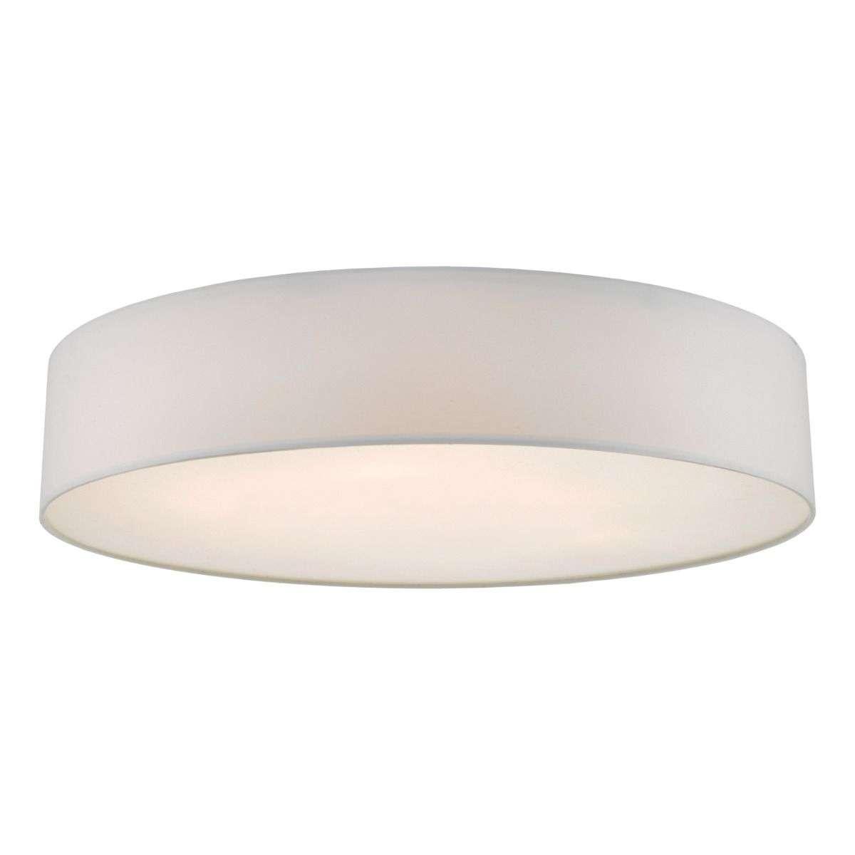 Cierro 6 Light Flush Fitting in Ivory