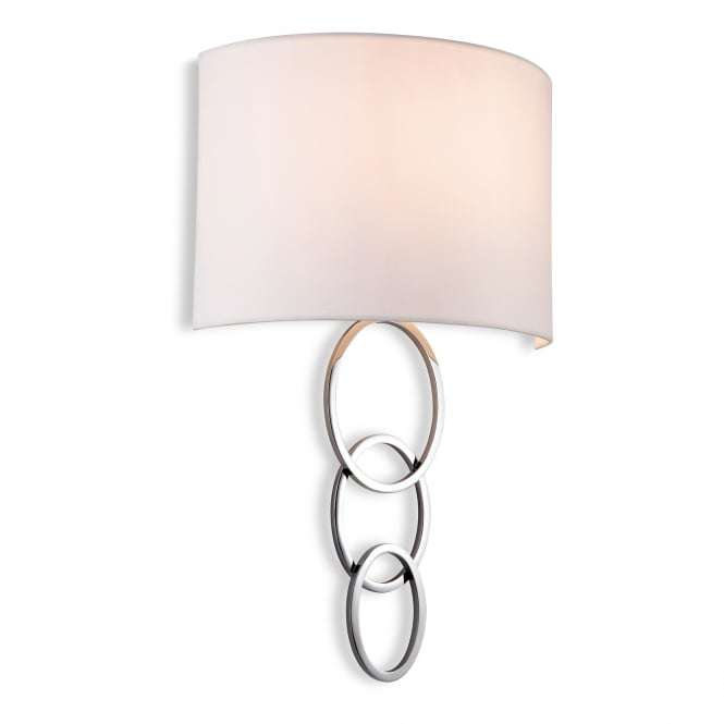 Conrad Light Wall Fitting With Cream Shade And Polished Chrome Finish
