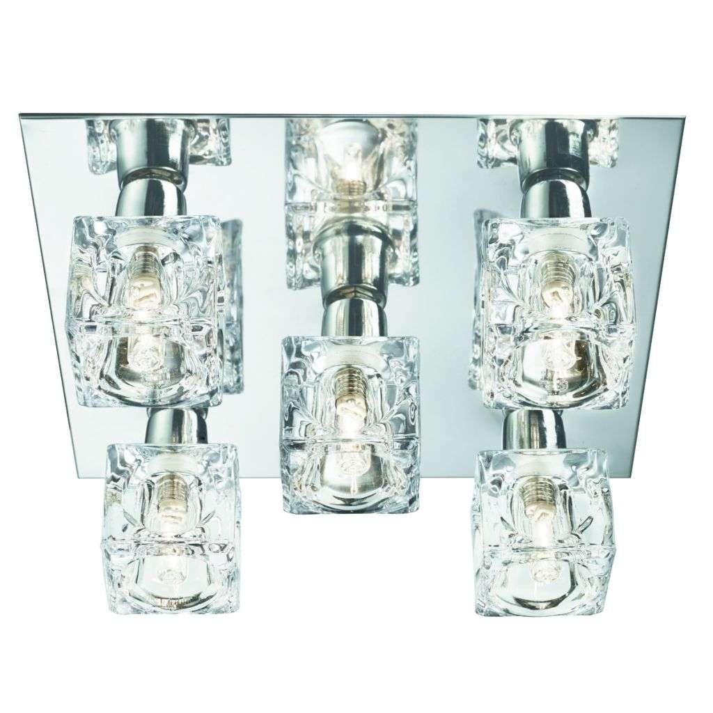 Cool Ice 5 Light G9 Chrome Flush Ice Cube Glass