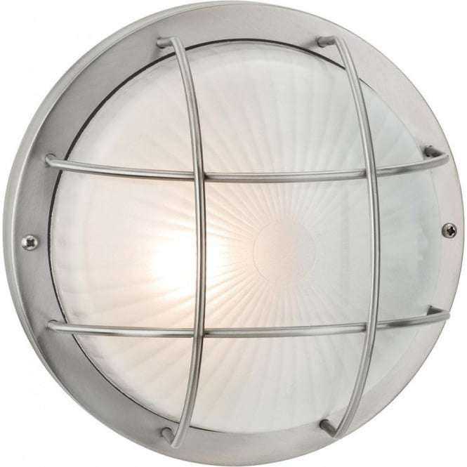 Court Single Outdoor Wall/Ceiling Light Stainless Steel