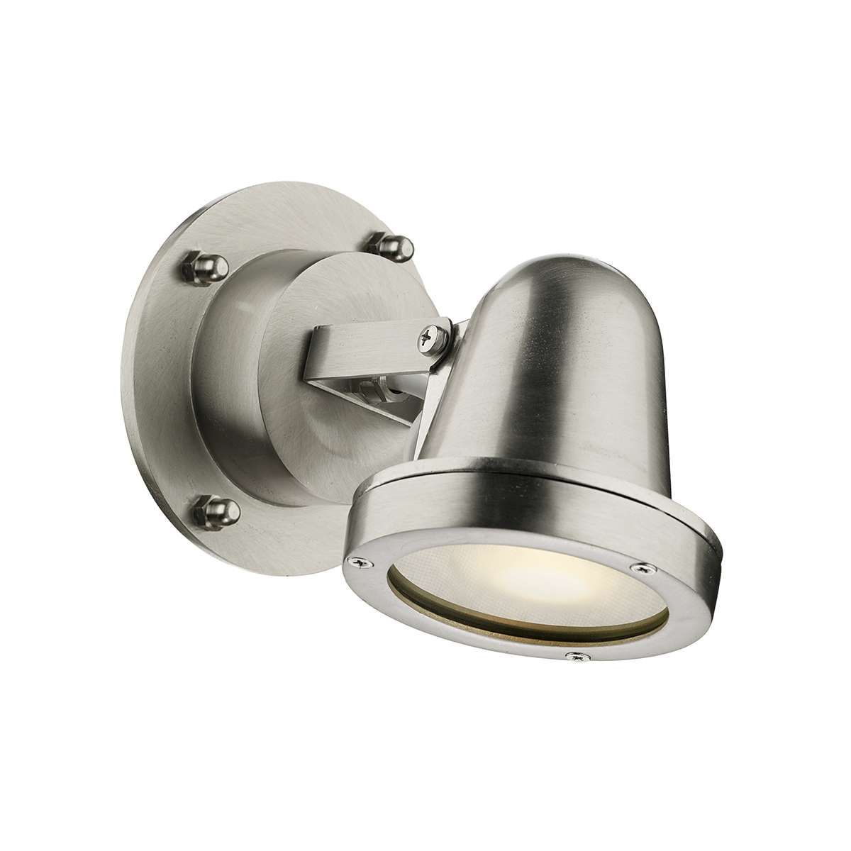 Cove Solid Brass Nickel Spotlight