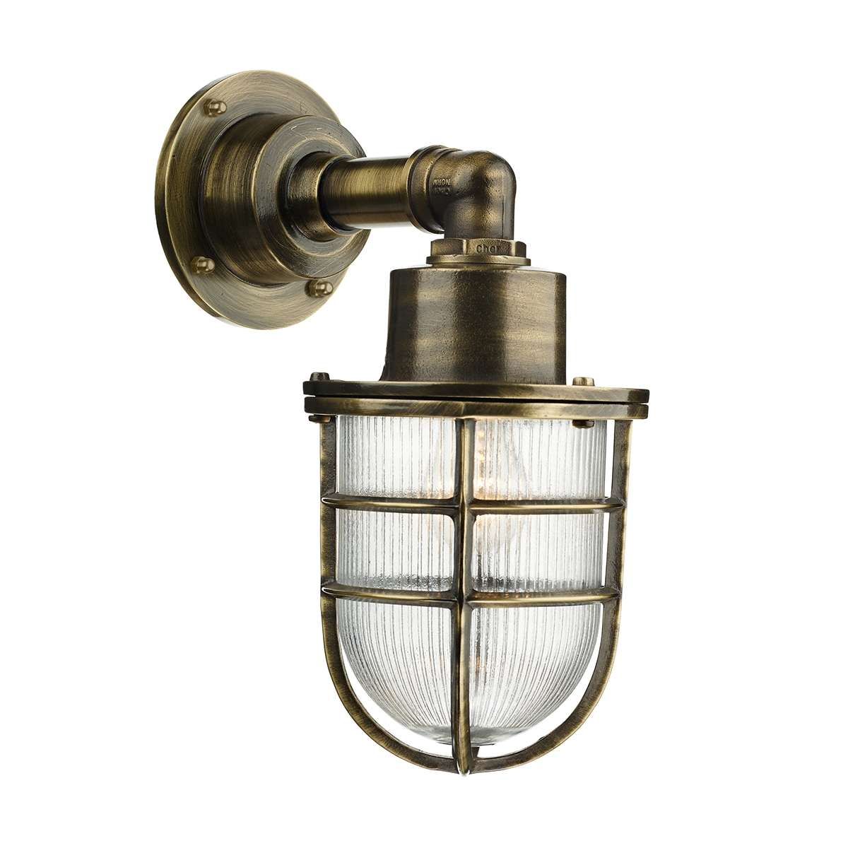 Crewe Antique Brass Wall Light
