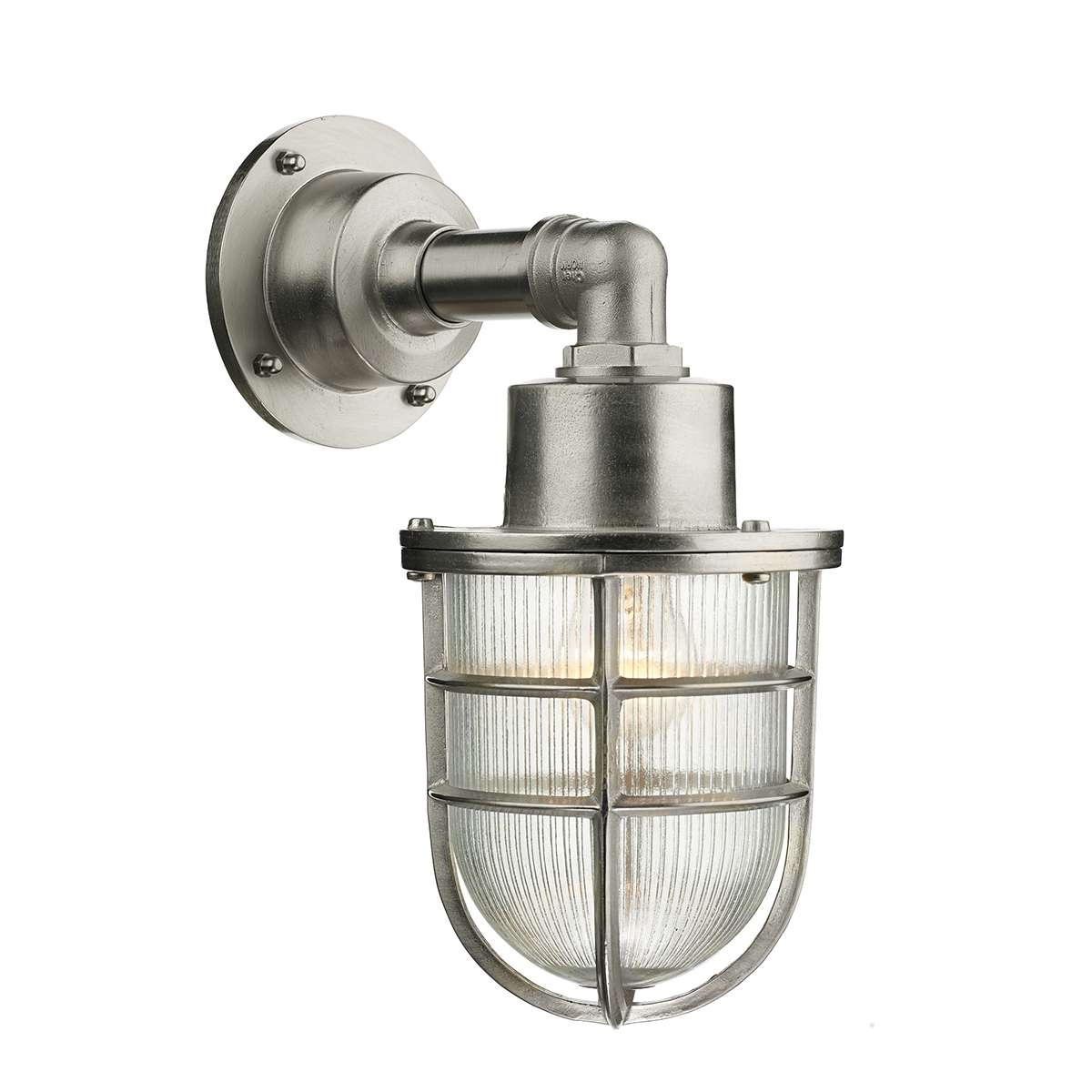 Crewe Solid Brass Nickle Wall Light
