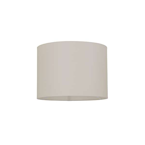 Cylinder Shade 250mm in Taupe Cotton Fabric