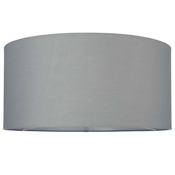 Cylinder Shade 500mm in Grey Cotton Fabric