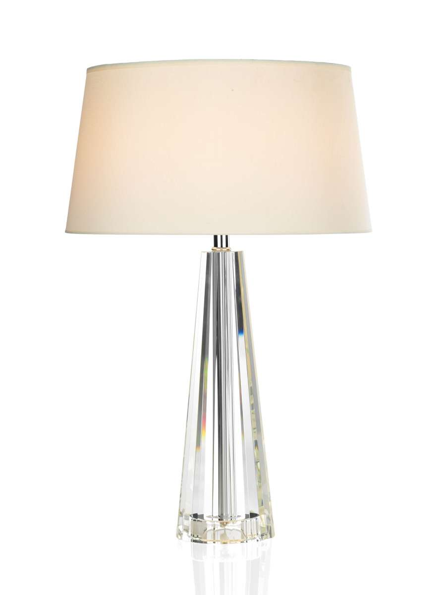 Cyprus Crystal Table Lamp With Shade