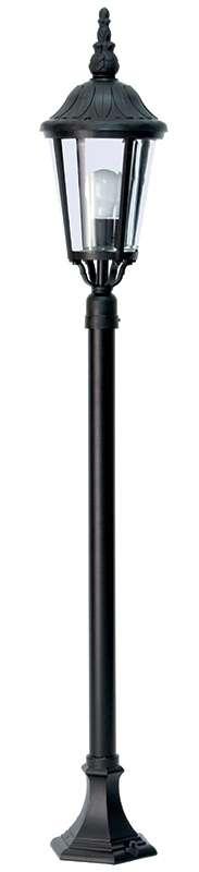 Black Duralighting Non Rust 4ft Post Light with Leaf Design