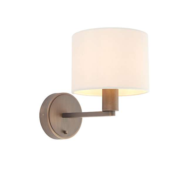 Daley Wall Light in Bronze C/W Marble Shade